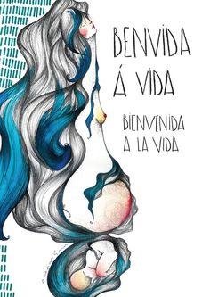 #LIBROS #ILUSTRACION #PARTO - Portada de Marina Guiu para Benvida á Vida (Un libro de partos en primera persona) - Contado en primera persona, porque existen infinitas dudas, infinitas experiencias e infinitas maneras de contarlo; con la publicación del mismo damos un espacio para que acompañéis a los protagonistas en sus historias y os decidáis a escribir las vuestras. parto embarazo embarazada  +INFO: www.fundacioneomaia.org Campaña crowdfunding verkami www.verkami.com/projects/5113