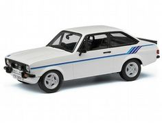The Corgi Ford Escort Mk2 Harrier, Diamond White is a diecast model vehicle in the Corgi Vanguard Collection. The Escort Harrier was launched in December 1979 just after the rear-wheel-drive Escort had celebrated its eighth (and last) consecutive victory at Britain's RAC Rally. Although it lacked the outright power of the RS2000, the lighter and lower engine made it a well‑balanced car that was surprisingly rapid and nimble on the road.