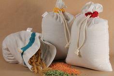 kit pour les courses zéro déchet de Sakaïdé : Ensemble de 9 sacs réutilisable pour les courses en vrac