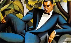 Portrait of the Marquis d'Afflito - by TAMARA DE LEMPICKA