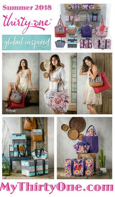 #31 Global Inspired by Thirty-One… Special prints, new in April 2018 include Etched Elements, Southwest Stripe, Sunset Medallion and Fiesta Floral. See everything at MyThirtyOne.com/PiaDavis or find your own consultant online. Check out items like the Large Utility Totes, Retro Metro, Thermals, Studio Thirty-One and more. This new prints coordinate with many of the 31 solid colors.