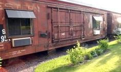 train car guest house. I want one of these.