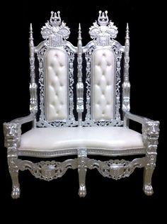 1000 images about fauteuil baroque blanc louer ou for Acheter miroir baroque