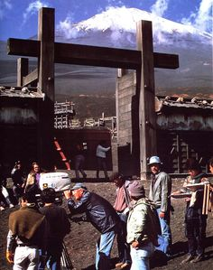 Akira Kurosawa on the set of RAN (1985)