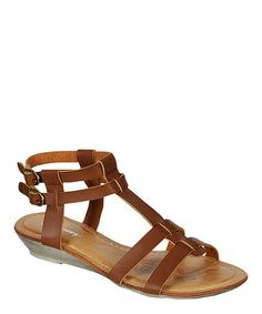 Another great find on #zulily! Brown Chris Double-Buckle Sandal #zulilyfinds