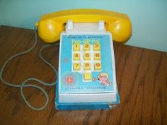 Vintage Fisher Price Chime Phone-Pop Up Pal # 150