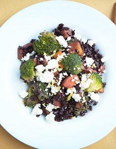 Riz noir venere, potimarron, brocoli et feta de Marco Bianchi pour 4 personnes - Recettes Elle à Table
