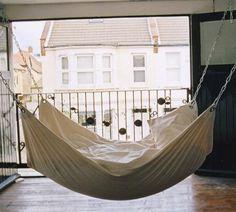 Indoor Hammock Bed by Le Beanock