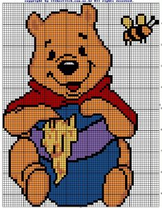 37 trendy knitting charts disney winnie the pooh Cross Stitching, Cross Stitch Embroidery, Embroidery Patterns, Disney Stitch, Winnie The Pooh Friends, Disney Winnie The Pooh, Disney Cross Stitch Patterns, Cross Stitch Designs, Cross Stitch Baby