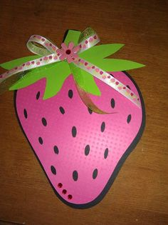 Strawberry party invitation @Charis - Bella Soiree