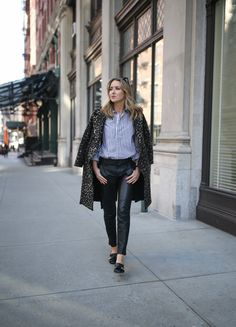 Stripes and Leopard | MEMORANDUM | NYC Fashion & Lifestyle Blog for the Working Girl