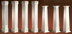 Craftsman Wood Light Posts Styles | Column Choices
