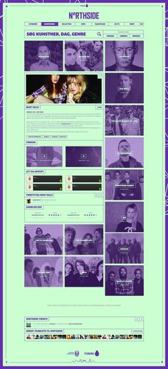 Northside 2014 - Music festival by Morten Lybech, via Behance