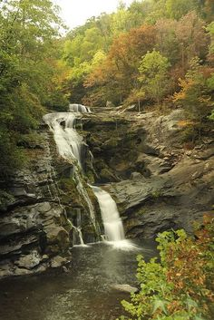 Bald River Falls, Tennessee - My grandma took us to this falls one time. It's near Sweetwater/Madisonville where she grew up. Beautiful Places To Visit, Beautiful World, Places To See, Beautiful Waterfalls, Beautiful Landscapes, Nature Scenes, Nature Pictures, Appalachian Mountains, Vacation Spots