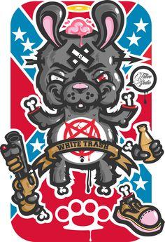 "Illustration for Tattoo studio ""White-Trash"" by mr Kepz, via Behance"