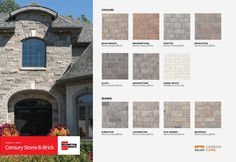 Century Stone captivates with the ageless beauty and elegance of classic stonework. Rich, vibrant colors and full, rugged textures will never age; which means your unique results will look just as alluring in fifteen years as they do now. Brick And Stone, White Stone, Vibrant Colors, Colours, Ageless Beauty, New Homes, House Ideas, Palette, Exterior