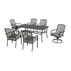 Hampton Bay, Ashtabula 7 Piece Patio Dining Set, FSS60445ST At The Home  Depot
