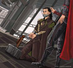 so Mjolnir babysat Loki while Thor went for Shwarma <-- make me cry, why don't you!