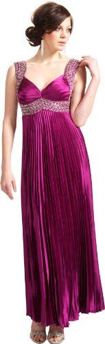 gorgeous       http://amzn.to/Ha1Ykh       #Twist Back Beaded Satin Formal Gown Junior Plus #Size