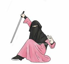 Niqabi Swordswoman Islamic Girl Pic, Islamic Art, Muslim Pictures, Islamic Pictures, Arab Girls, Muslim Girls, Muslim Men, Hijabi Girl, Girl Hijab