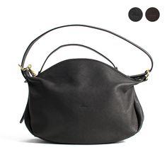 Enśe zipper 2way leather shoulder bag S GL-603