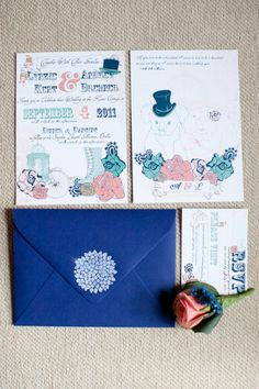 Victorian-Inspired Invitation Suite Photo by Elizabeth Kaye via Style Me Pretty