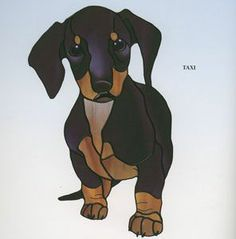 Dachshund - So many fantastic patterns in Dog Designs by Tessa McOnie Stained Glass Crafts, Stained Glass Designs, Stained Glass Patterns, Mosaic Patterns, Dog Quilts, Animal Quilts, Mosaic Animals, Glass Animals, Mosaic Art