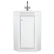 Alpine 420 corner vanity unit with polymarble basin