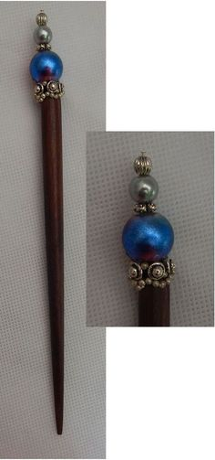 Silver & Blue Beaded Wooden Hair Stick New Shawl Pin NEW Accessories Fashion #Handmade #HairStick http://www.ebay.com/itm/Silver-Blue-Beaded-Wooden-Hair-Stick-New-Shawl-Pin-NEW-Accessories-Fashion-/152260048458?ssPageName=STRK:MESE:IT