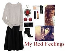 """""""My Red Feelings"""" by charbear231 ❤ liked on Polyvore featuring Brunello Cucinelli, T By Alexander Wang, Dolce&Gabbana, BillyTheTree, UN United Nude, Christian Dior, Chanel, women's clothing, women and female"""