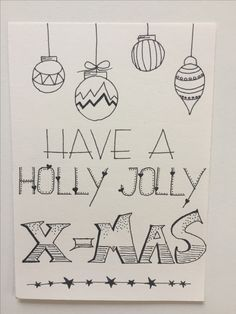 Have a holly jolly x-mas DIY-ideetje Handlettering - write Kerstballen - illustrate