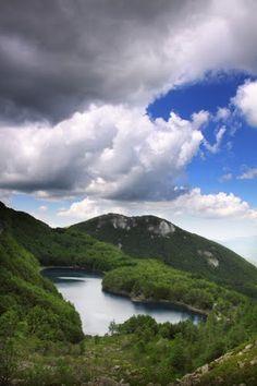Italy Emilia-Romagna Pievepelago  Lago Santo - sentiero 525