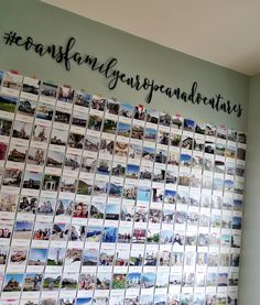 I started a project back in October and finished it up recently! It's a family adventures photo wall :) I printed all my favorite fami...