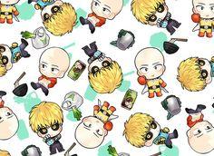 One Punch Man - Saitama and Genos One Punch Man 3, One Punch Man Funny, Saitama, Anime Meme, Manga Anime, Caped Baldy, Bald Man, Kawaii Stuff, Anime Artwork
