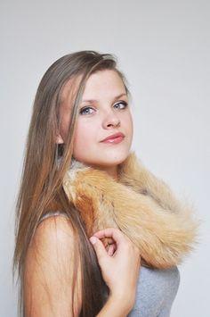 Scaldacollo pelliccia in volpe golden  www.amifur.com