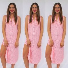 We are feeling bright and cheery today for the race day of days! This Checker Out dress is available in pink or black and so comfortable, we love it!  #dress #dresses #meektochic #love