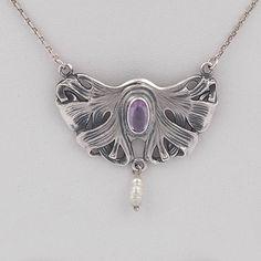 Jugendstil Necklace Commotie. Available at artdecowebstore.com. - Jugendstil Collier Commotie. Verkrijgbaar bij artdecowebwinkel.com.
