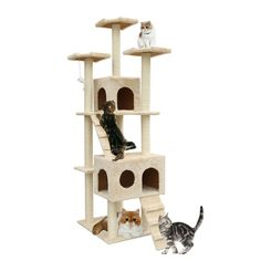 MAGIC UNION 72-Inch Cat Tree Pet Play House with Dangling Toy -- Remarkable product available now. : Cat Tree