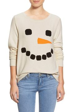 Wildfox Frosty Snowman Face' Pullover
