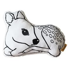 Frankie the fawn, an iconic monochrome deer cushion from the Homely Creatures' range perfect for a gender neutral woodland nursery. BUY NOW Woodland Decor, Woodland Nursery, Cute Kids, Cute Babies, Sleepy Bear, Deer Print, Baby Deer, Kids Decor, Little People