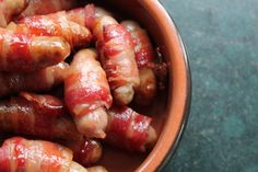 Here's one of our Christmas Food Traditions - Maple Glazed Pigs in Blankets. Such a well loved recipe in our house and a Christmas staple. Traditional Christmas Food, Pigs In A Blanket, Maple Glaze, Blankets, Sausage, Recipes, Blanket, Recipies, Rug