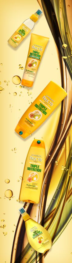 Your hair will thank you for using Triple Nutrition. The avocado, almond and olive oils are ultra nourishing.