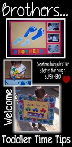 welcoming home a baby brother!  Daily projects and activities posted on Toddler Time Tips @ https://www.facebook.com/toddlertimetips
