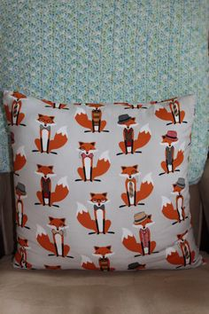 Fox Pillow for the Nursery Glider = perfection! {from @etsy)