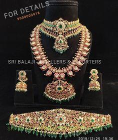 Mango Mala Jewellery, Gold Temple Jewellery, Gold Wedding Jewelry, Bridal Jewelry Sets, Bridal Jewellery, Gold Jewelry, Antique Jewellery Designs, Gold Jewellery Design, Simple Necklace Designs