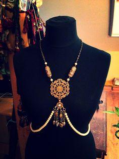 Body Jewelry, Antique / Art Nouveau style body adornement :)