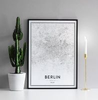 Poster mit Berlin-Karte...