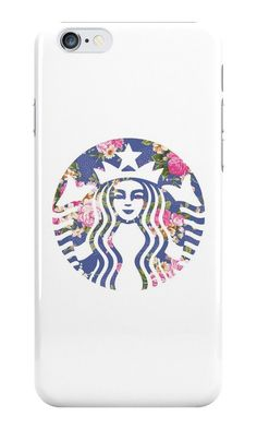 Starbucks Logo New Floral for iPhone 6 6 Plus Hard Case Cover