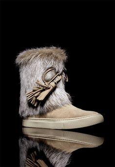 23086b25fce4 Tory Burch Anjelica Fur-Cuff Boot Shoes 2015