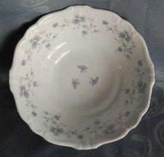 "Johann Haviland Blue Garland 8.5"" Serving Bowl, White Porcelain German China  #JohannHaviland"